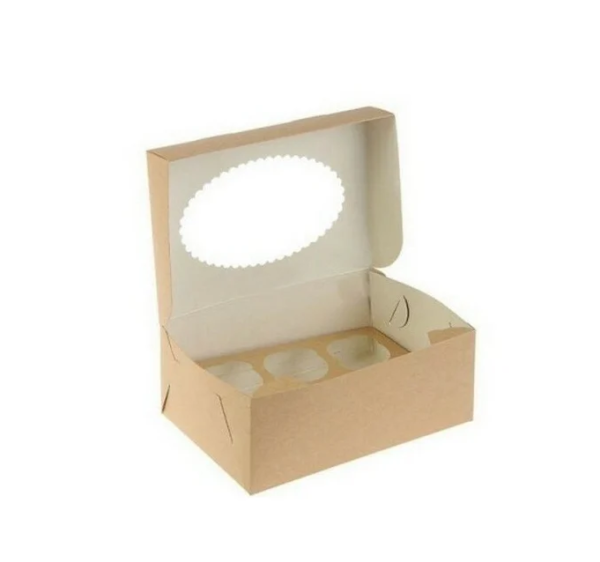 Škatla za muffine z oknom ECO MUF 250x170x100 mm (150 kos/pak)