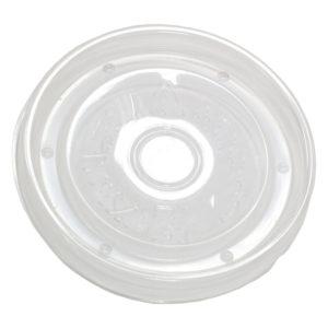 Papirnata posoda za juho 300 ml d=90 mm h=85 mm bela s pokrovom, 50 kos (komplet)