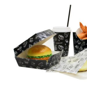 Burger embalaža Complement Black 120х120х100 mm