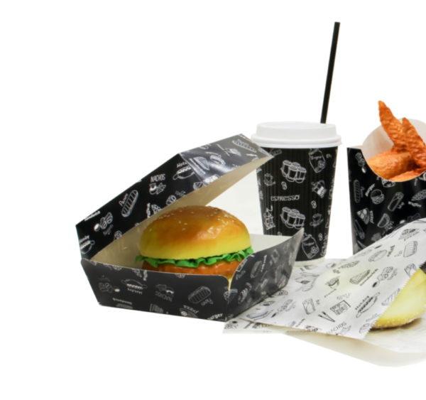 Burger embalaža Complement Black 120х120х100 mm