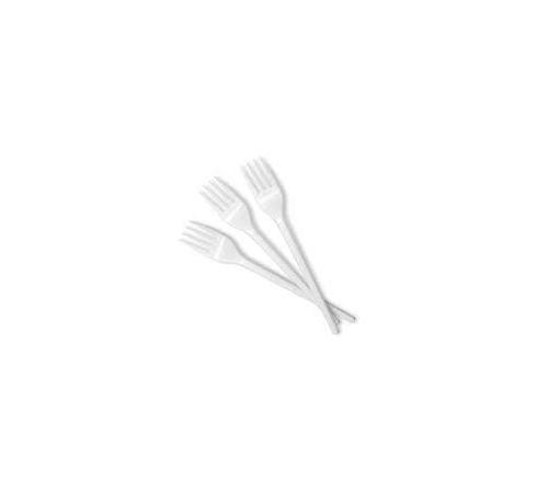 Plastične vilice, 16,5 cm, bele barve (100 kos/pak)