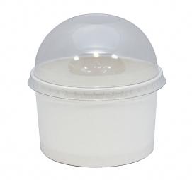 Pokrov kupola z luknjo PS za papirnato posodo 245 ml d=93 mm