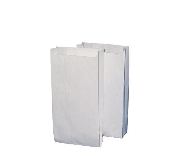 Papirnata vrečka 140х60х250 mm bela (2500 kos/pak)