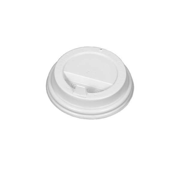 Pokrov z zaklopom PS d=80 mm bel (100 kos/pak)