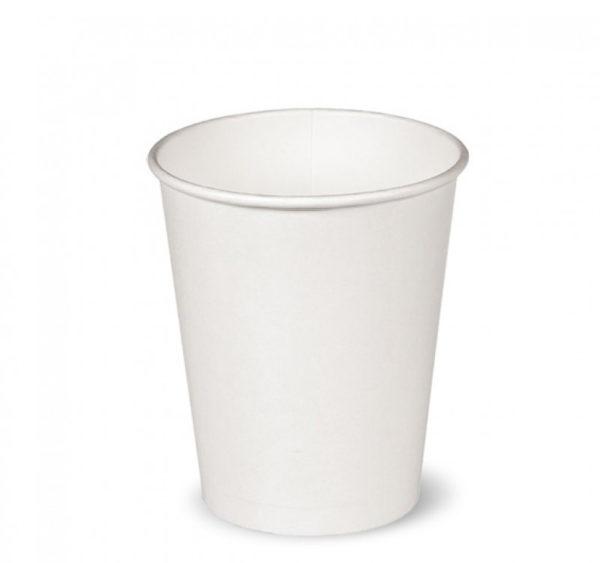 Papirnat kozarec  250 ml d=80 mm beli (50 kos/pak)