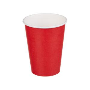 Papirnat kozarec 300 ml d=90 mm 1-slojni rdeča (50 kos/pak)