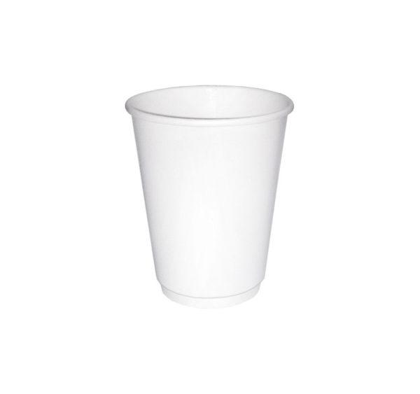 Papirnat kozarec 250 ml d=80 mm 2-slojni beli (24 kos/pak)