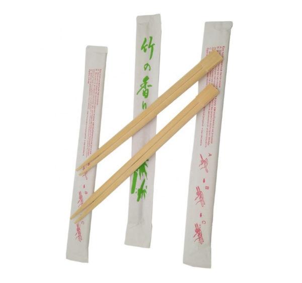 Lesene palčke za azijsko hrano, zavite posamezno (100 kos/pak)