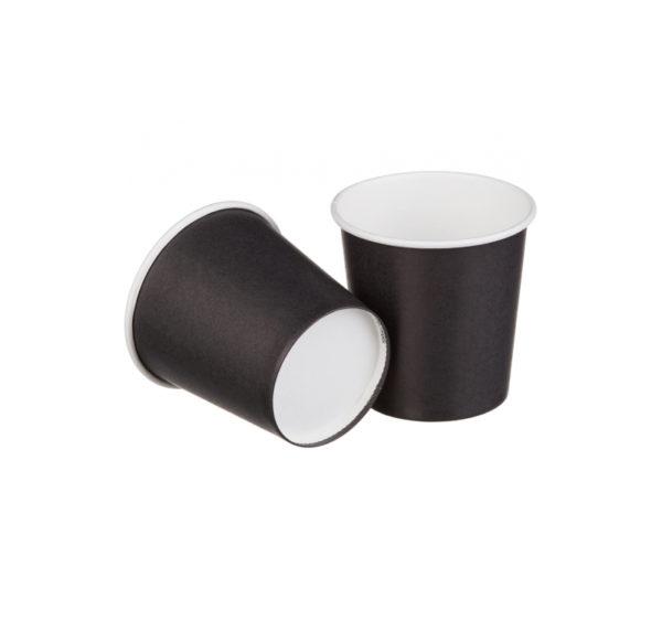 Papirnat kozarec 100 ml d=62 mm 1-slojni črn (50 kos/pak)