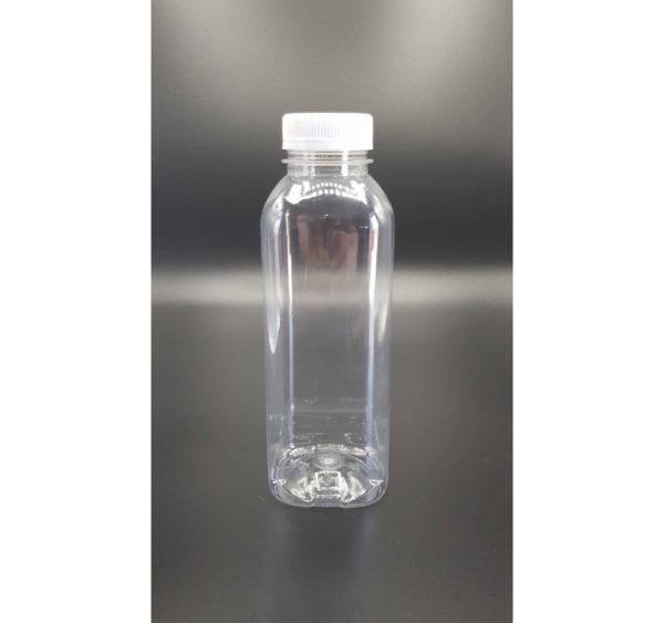 Plastenka s pokrovom PET 500 ml d=38 mm gladka prozorna (120 kos/pak)