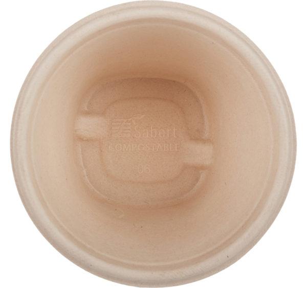 Embalaža s pokrovom PULP Sabert 500 ml d=130 mm h=90 mm kraft, 100 kos