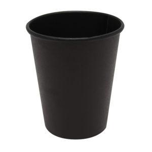 Papirnat kozarec 250 ml d=80 mm 1-slojni Total Black (50 kos/pak)