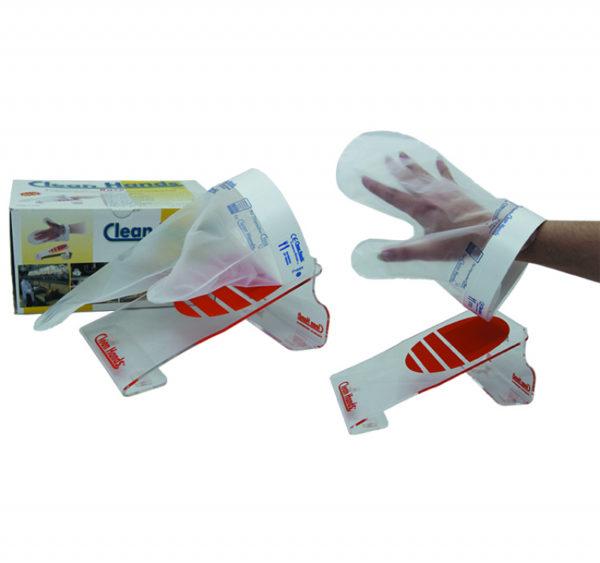 Komplet uporabljivih rokavic z magnetnim držalom (1 Držalo, 1 manšeta, 4 rokavice)