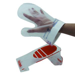 Komplet rokavic za enkratno uporabo z magnetnim držalom (1 Držalo, 1 manšeta, 4 rokavice)