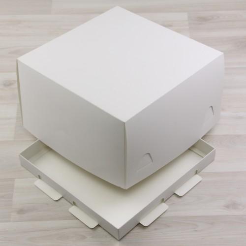 Škatla za torto 250x250x150 mm  bela spodnja + ovitek (300 kos/pak)