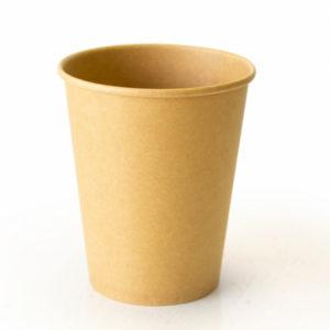 Papirnat kozarec 250 ml d=80 mm 2-slojni kraft/kraft (25 kos/pak)