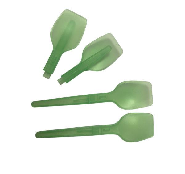 Plastična žlica 10,7 cm zelena (ložljiva) (4000 kos/pak)