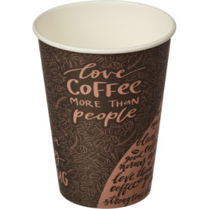 Papirnat kozarec 300 ml d=90 mm 1-slojni Coffee (50 kos/pak)