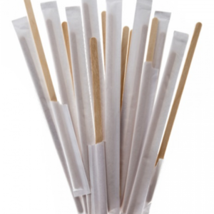 Mešalna palčka od bambusa 17,8 cm v ovitku 250 kos/pak