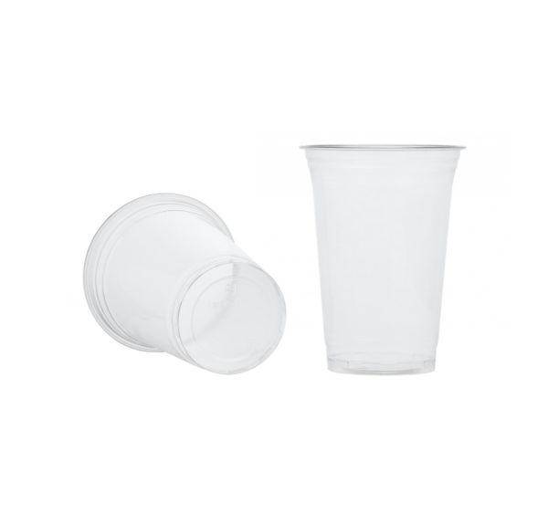 Kozarec PET 400 ml d=95 mm prozoren (50 kos/pak)