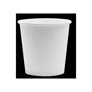 Papirnat kozarec 100 ml d=62 mm 1-slojni bel (100 kos/pak)