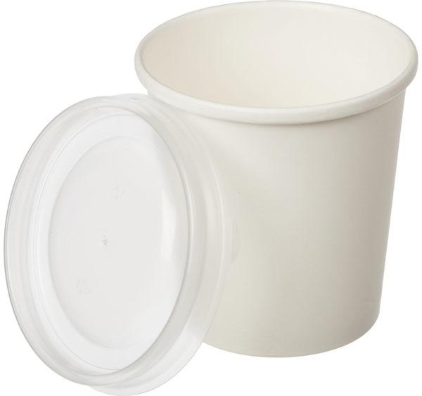 Papirnata posoda za juho BioBox 440 ml d=98 mm, h=99 mm bela (640 kos/pak)