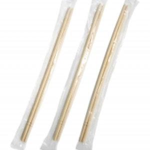 Lesene palčke za azijsko hrano, zavite posamezno (3000 kos/pak)