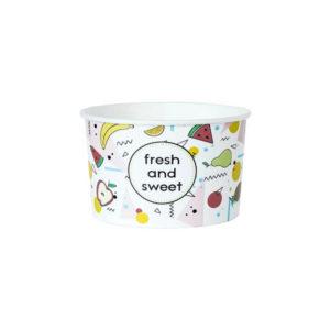 Papirnata posodica 130 ml d=75 mm h=47 mm Fresh&Sweet, 50 kos (komplet)