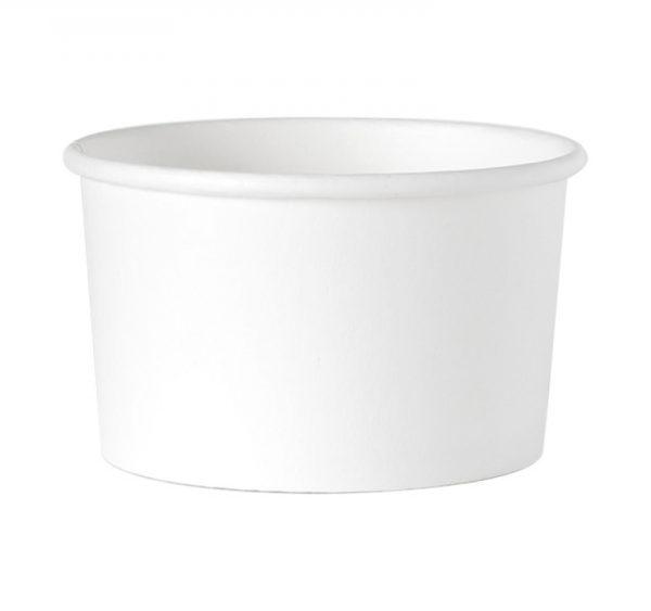 Papirnata posodica 245 ml d=93 mm h=55 mm bela (25 kos/pak)