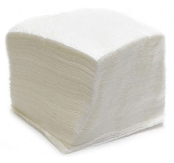 Papirnati prtički 1sl 25×25 cm beli 50 l/pak (60 kos/pak)