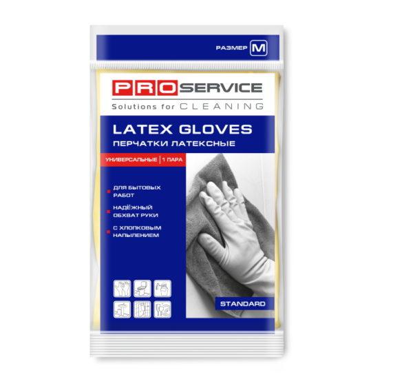 Gumijaste rokavice, prevlečene z bombažem M