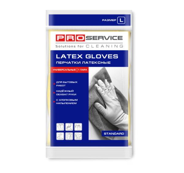 Gumijaste rokavice, prevlečene z bombažem L
