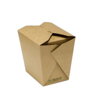 Papirnata posoda BioBox za WOK 700 ml kraft