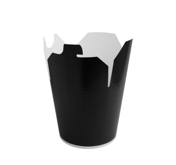 Papirnata posoda za WOK 750 ml črna (50 kos/pak)