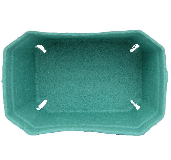 Kartonski pladenj 190x140x105 mm zeleni
