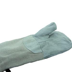 Dolga pekovska rokavica z oblogo 37 cm iz bombaža