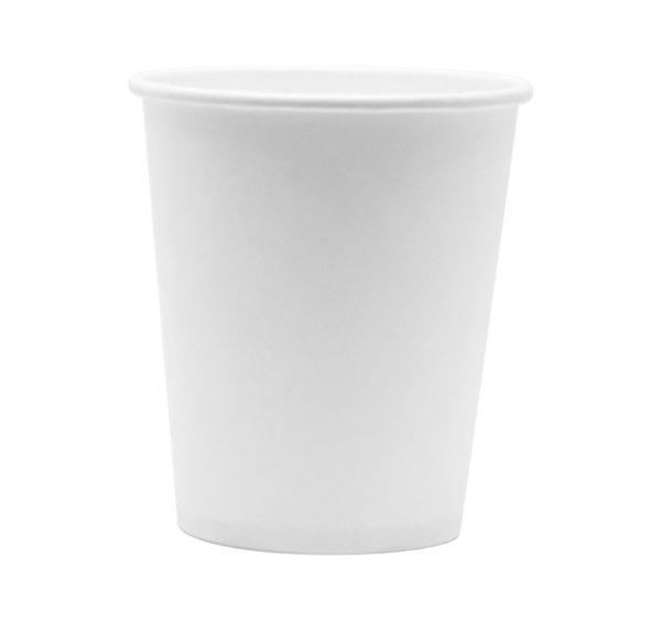 Papirnat kozarec 185 ml d=73 mm 1-slojni beli (100 kos/pak)