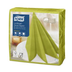 Prtički za večerjo Tork Premium Linstyle® 39×39 cm, 50 kos/pak, pistacije