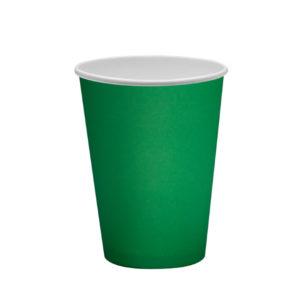Papirnat kozarec 300 ml d=90 mm 1-slojni zeleni (50 kos/pak)