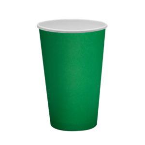 Papirnat kozarec 400 ml d=90 mm 1-slojni zeleni (50 kos/pak)