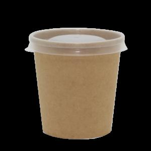 Papirnata posoda za juho BioBox 440 ml d=98 mm, h=99 mm kraft brez pokrova (40 kos/pak)