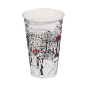 Papirnat kozarec 400 ml d=90 mm 1-slojni Big City Life (50 kos/pak)