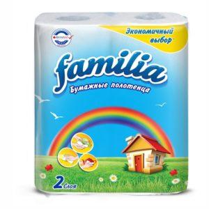 Papirnate brisače v roli 2sl 2/1 Familia Rainbow beli (50455)